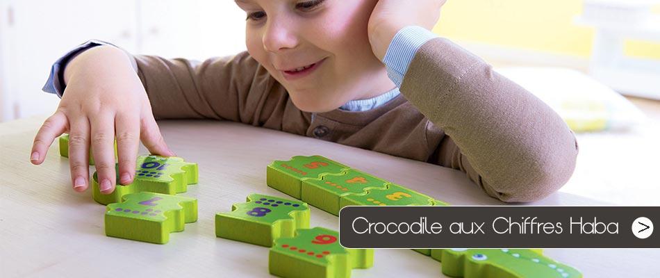 Le crocodile aux chiffres de Haba, un jeu étonnant pour apprendre à compter