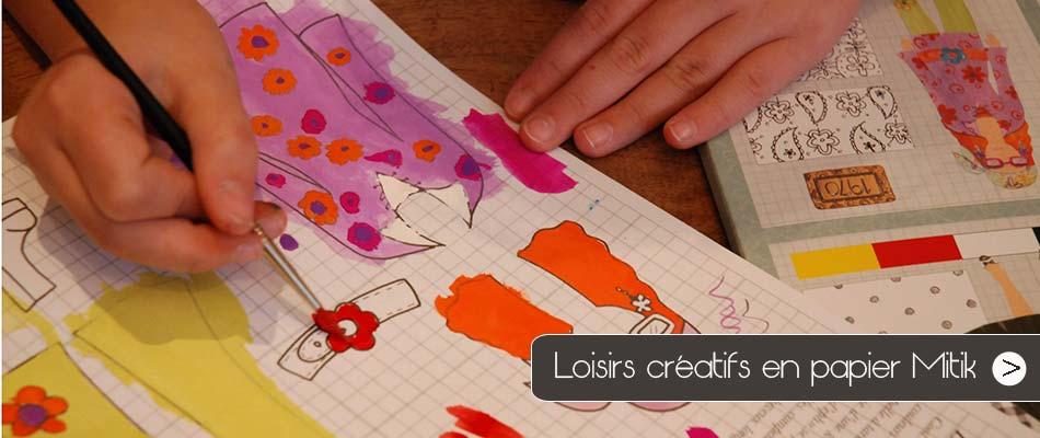 Découvrez les loisirs créatifs Mitik, des activités en papier très sympa