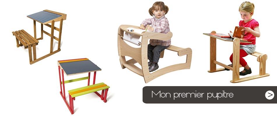 Dès ses 2 ans pensez à lui offrir un bureau ou un pupitre à sa taille