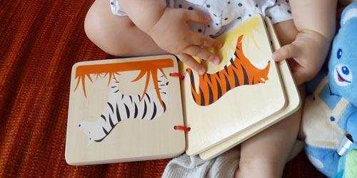 Premiers livres en bois