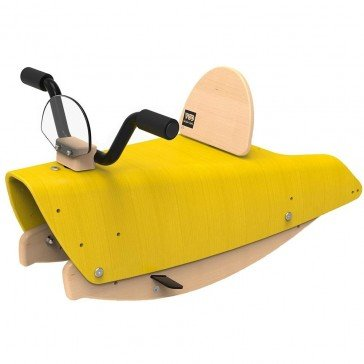 Bascule en bois Moto jaune - Chou Du Volant