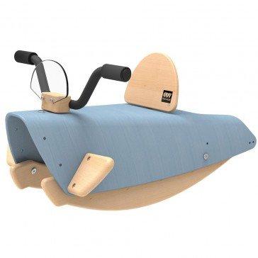 Bascule en bois Moto bleue - Chou Du Volant