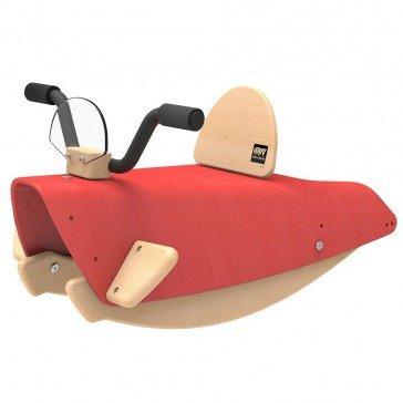 Bascule en bois Moto rouge - Chou Du Volant