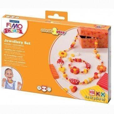 Ensemble de bijoux Fimo par Staedtler (orange) - Pâte Fimo