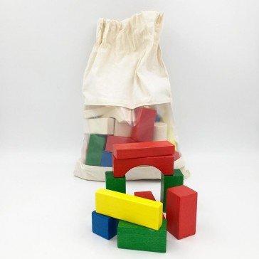 50 blocs en bois colorés - Ebert