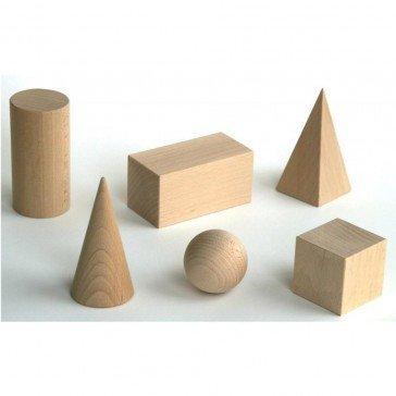Pièces géométriques en bois - Ebert