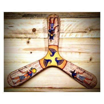 Egypte boomerang tripale pour droitier - Wallaby Boomerangs