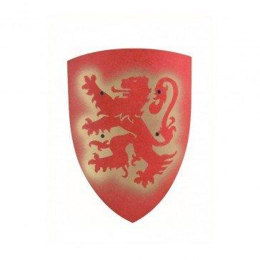 Bouclier en bois Bergish Lion - rouge - VAH