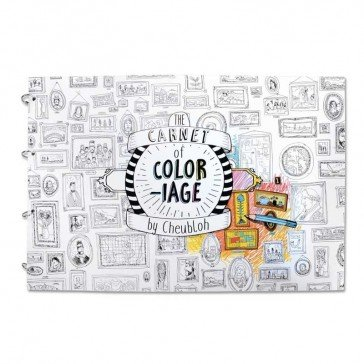 Grand carnet de coloriage - 24 pages - Agent Paper