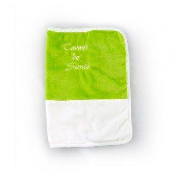 Protège carnet de santé vert/blanc - Mailou Tradition