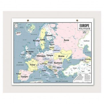 Carte Vintage - Europe Politique - Emile En ville