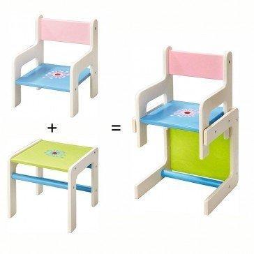 Chaise et table Fleur - Chaise haute pour poupée - Haba