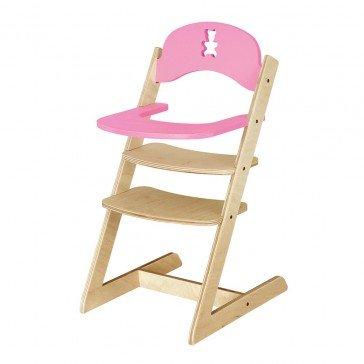 Chaise haute rose pour poupée - JB Bois