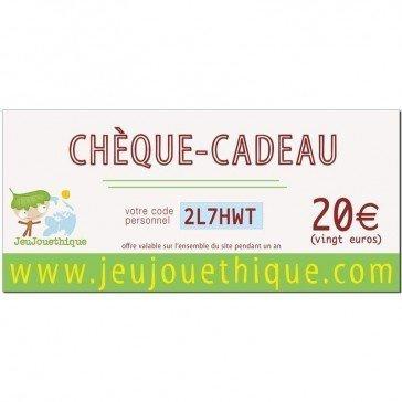 Chèque cadeau 20 € - Jeujouethique.com