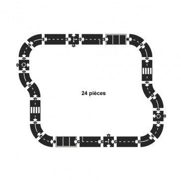 Circuit de voitures autoroute 24 pcs - Way ToPlay