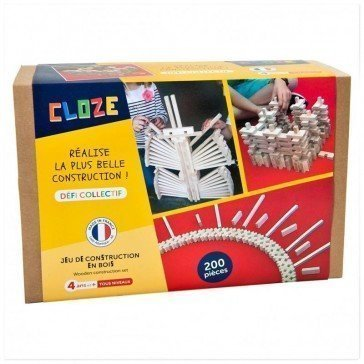 Jeu de construction - Défi collectif 200 pièces - Cloze