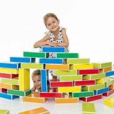 48 briques en carton Colourbricks