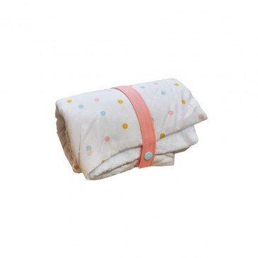 Couverture nomade Confettis en coton biologique - Carotte & Cie