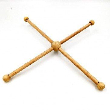 Croisillon en bois 4 branches pour mobile