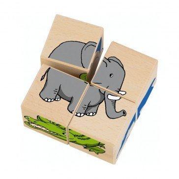 Cubes en bois Zoo - Selecta