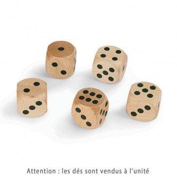 Dé en bois Belote 30 mm
