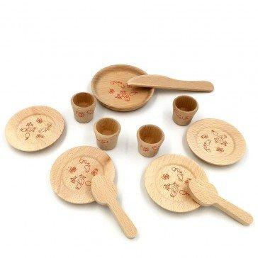 Dinette en bois colorée - Artisan du Jura