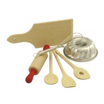 Dînette planche et ustensiles de cuisine