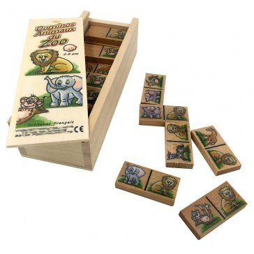 Dominos des animaux du zoo - Artisan du Jura