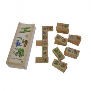 Dominos en bois - Dinosaures - Artisan du Jura