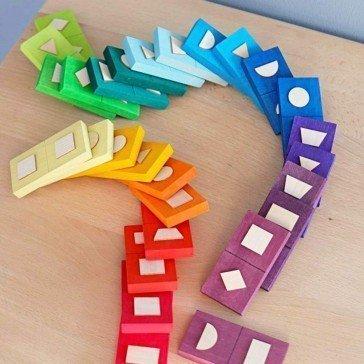 Dominos en bois formes géométriques - Grimm's
