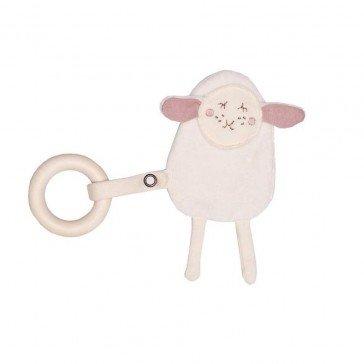 Hochet Mouton en coton avec anneau - Wooly Organic