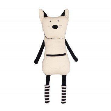 Peluche Range-Pyjama Chat noir et blanc