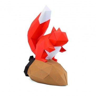 Ecureuil en papier 3D - Agent Paper