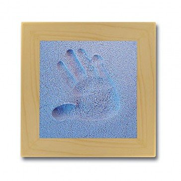 Kit d'empreinte bébé cadre carré bleu - Fabricant Allemand