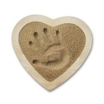 Kit d'empreinte bébé cadre coeur