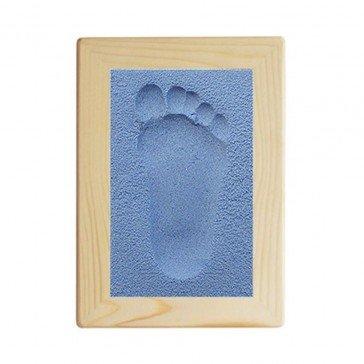 Kit d'empreinte bébé cadre rectangulaire bleu - Fabricant Allemand