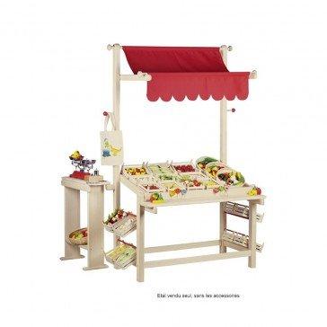 Etal de marchande en bois - Goki