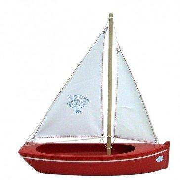 Grande barque en bois rouge - Bateaux Tirot