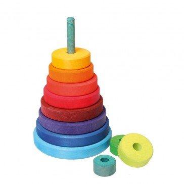 Grande pyramide colorée à empiler - Grimm's