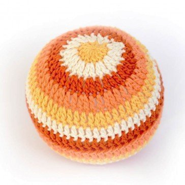 Hochet balle XXL en crochet - orange - Fabricant Espagnol