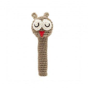 Hochet Hibou en crochet - Fabricant Espagnol