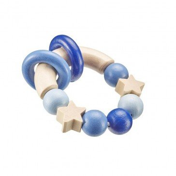 Hochet en bois magique bleu - Selecta