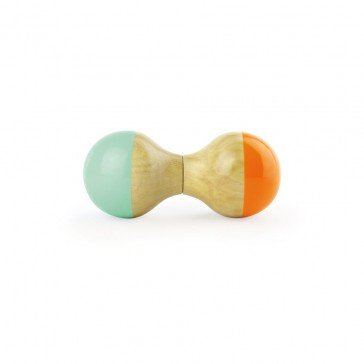 Hochet Maracas mint-orange - Vilac
