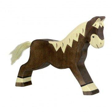 Cheval marchant marron foncé - Holztiger