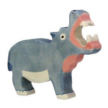 Hippopotame en bois - Holztiger