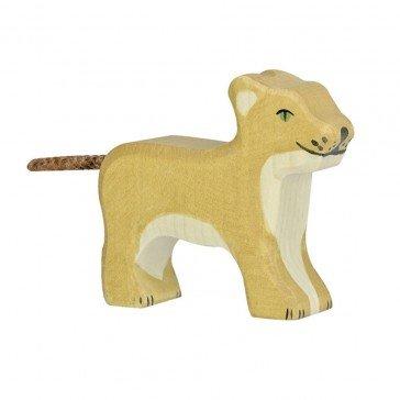 Lionceau en bois - Holztiger