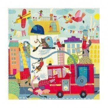 Puzzle Je veux être un...Pompier 36 pièces - Londji