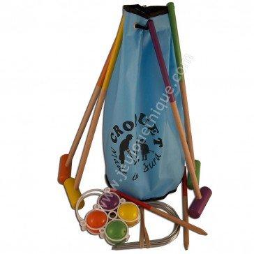 Jeu de croquet dans un sac - enfant - Artisan du Jura