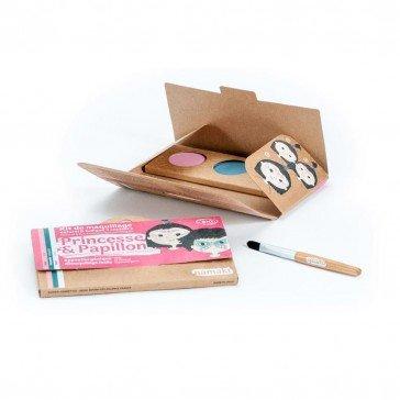Kit de maquillage 3 couleurs Princesses et Papillons