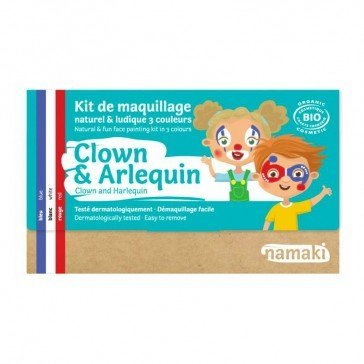 Kit de maquillage 3 couleurs Clown et Arlequin - Namaki